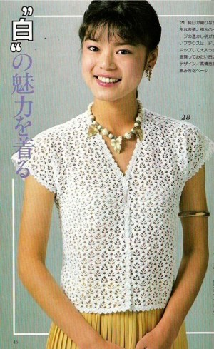 Esquema blusa en crochet abierta