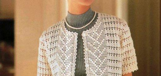 Hermoso chaleco corto crochet con patrones