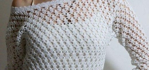 Polera en crochet fácil con esquema