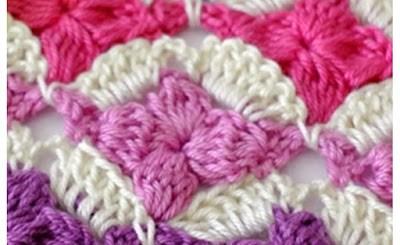 Punto crochet fantasía con esquema