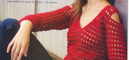 Seductora blusa crochet con patrones