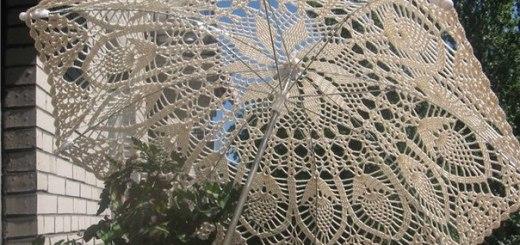 Sombrilla en crochet patrones