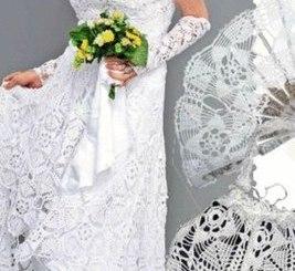 Vestido de novias ganchillo con esquema