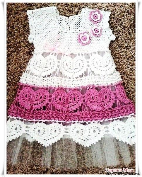 Vestido Niña Crochet Novedoso Crochet Patrones