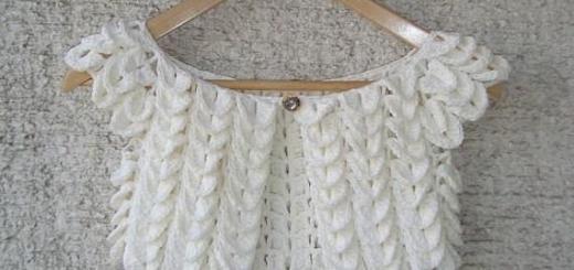 Bolero crochet delicado con esquemas