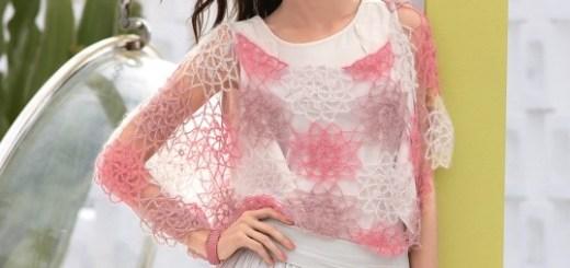 Capa estilo romántico crochet