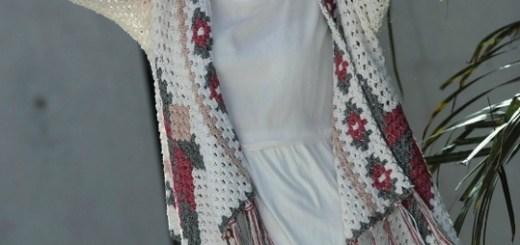Chaleco crochet colores