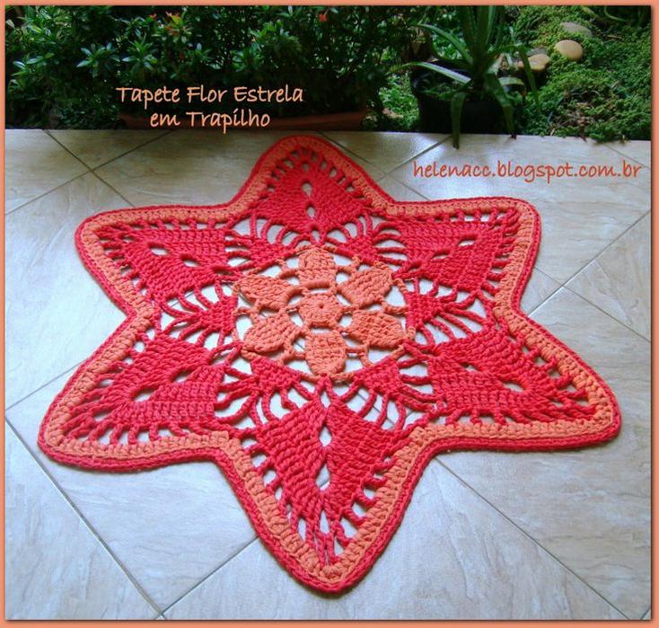 Alfombra crochet estrella