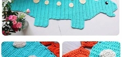 Alfombra crochet niños