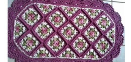 Alfombra piso crochet