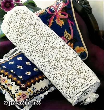 Almohada circular crochet