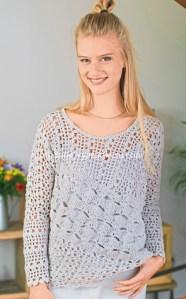 Blusas tejidas a crochet caladas
