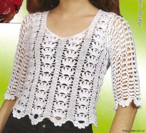 Blusas tejidas de crochet