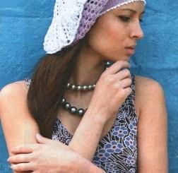 Boina crochet caída