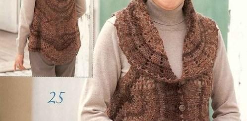 Bolero con crochet dama