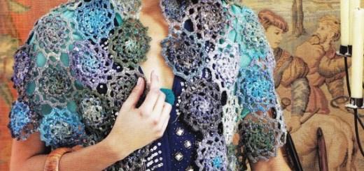 Capa crochet con granny