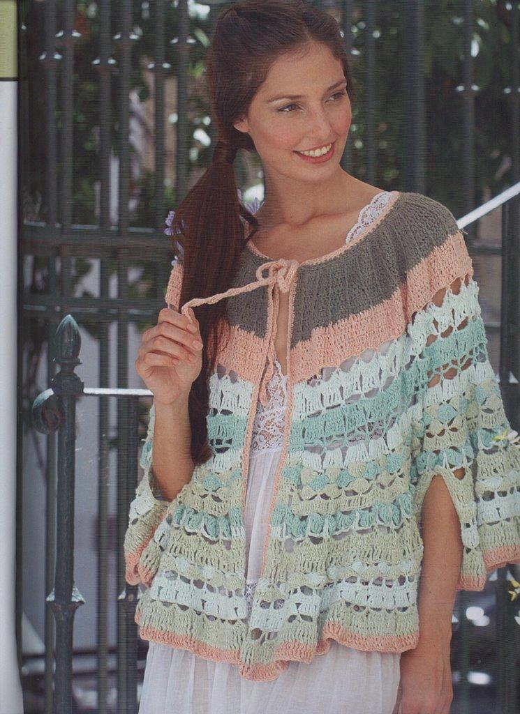 Capa crochet folk