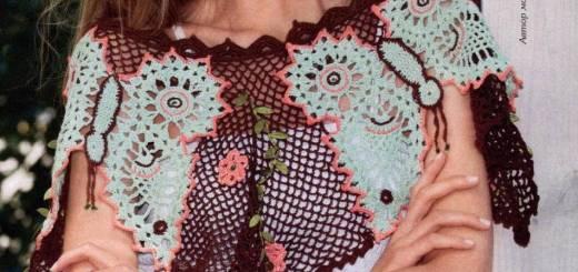 Capa de ganchillo flores
