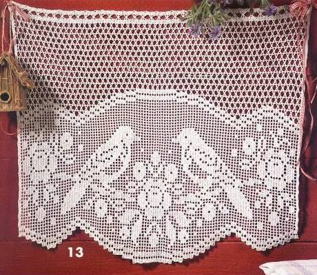 Cenefas a crochet para cocina