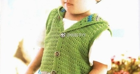 Chaleco niño crochet