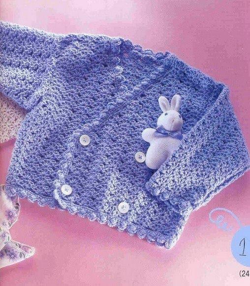 Chalecos de niña tejidos