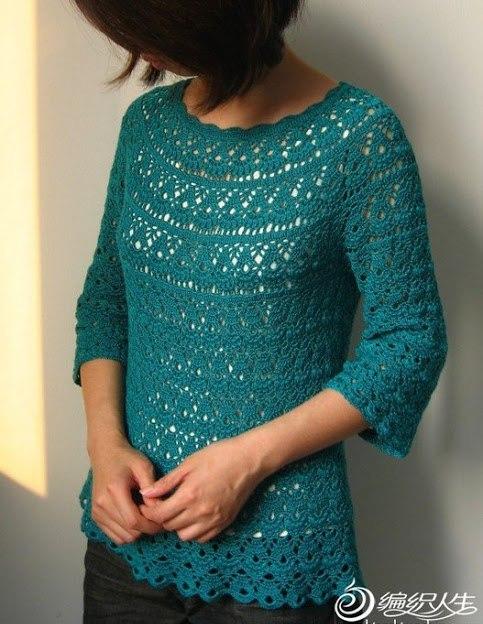 Chalecos tejidos a crochet para dama