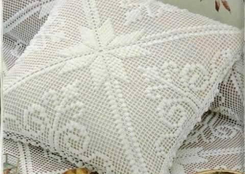 Cojines a crochet cuadrados
