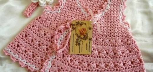 Crochet bebe niña vestido
