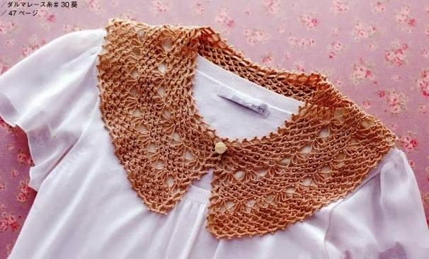 Cuello crochet para blusas