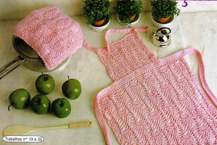 Delantal en crochet