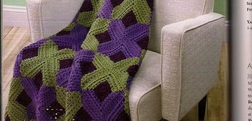 Mantas crochet modernas