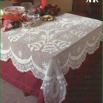 Mantel de nochebuena a crochet