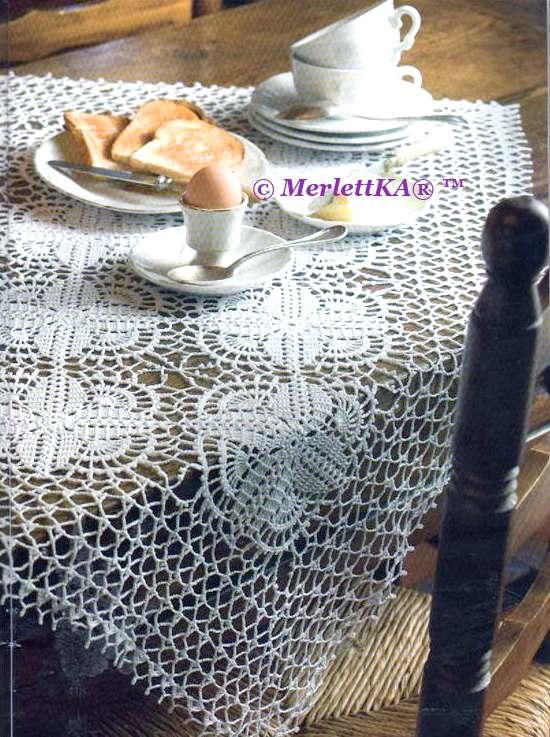Manteles tejidos a crochet