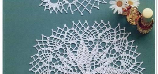 Mini servilletas crochet