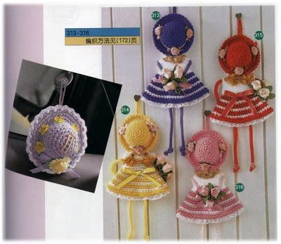 Muñecas en crochet adorno
