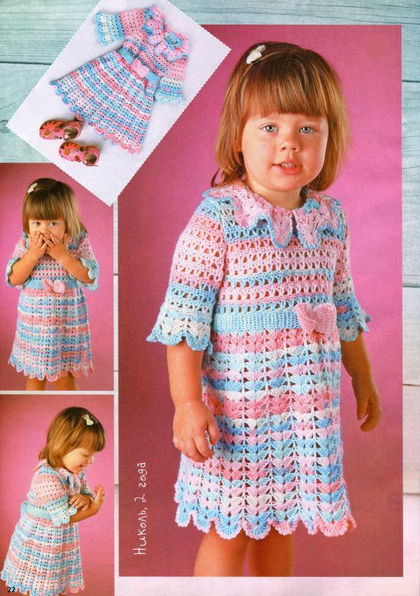 Patrones de vestidos a crochet
