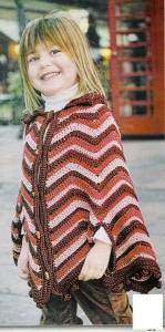 Poncho crochet niña
