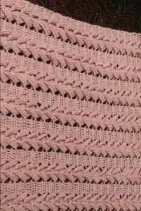 Punto crochet relieve