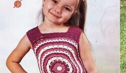 Top crochet niña