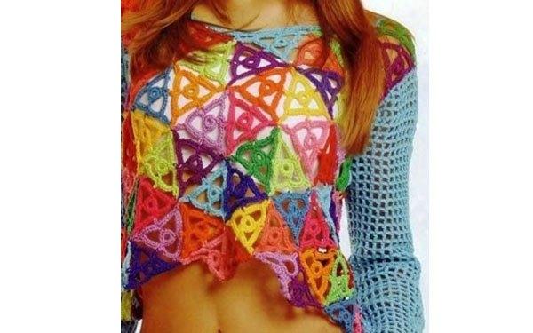 Top crochet novedoso
