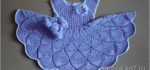 Vestidos a crochet para niñas