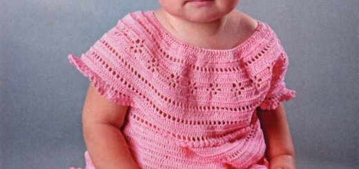 Vestidos de niña tejidos a crochet