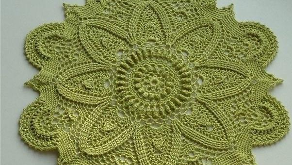 Tapete crochet en verde