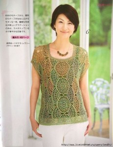 Blusas tejidas crochet japonesas