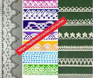 Esquemas para Puntillas en Crochet