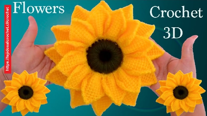 Girasoles Crochet Tunecino