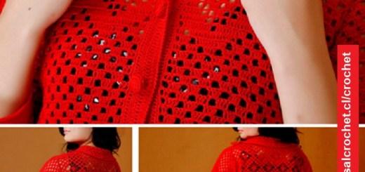 Abrigo Rojo Crochet