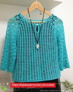 Blusa Turqueza Crochet Fácil