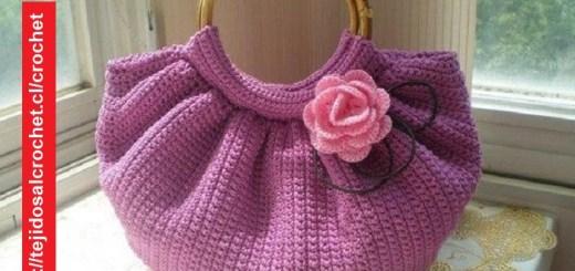 Bolso Crochet Asas Redondas
