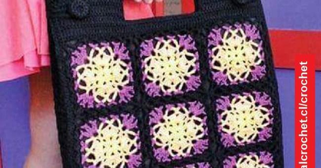 Bolso Crochet con Motivo